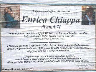 Necrologio Enrica Chiappa 2021