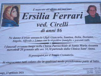 Necrologio Ersilia Ferrari 2021