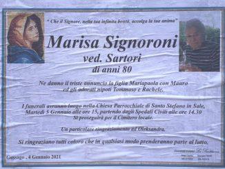 Necrologio Marisa Signoroni 2021
