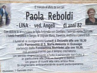Necrologio Paola Reboldi 2021