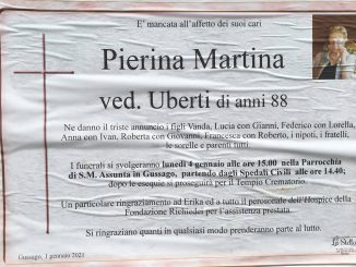 Necrologio Pierina Martina 2021