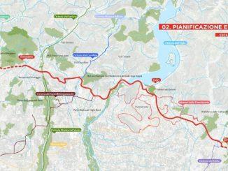 Ciclovia Bergamo Brescia mappa