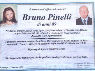 Necrologio Bruno Pinelli 2021