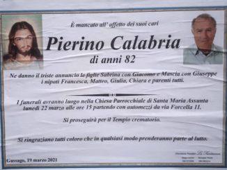 Necrologio Pierino Calabria 2021