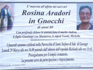 Necrologio Rosina Aradori 2021
