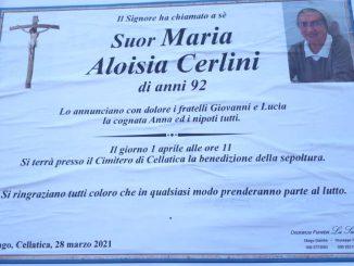 Necrologio suor Maria Aloisia Cerlini 2021