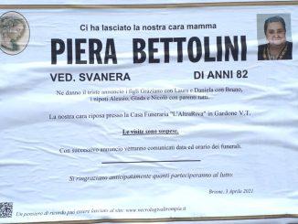 Necrologio Piera Bettolini 2021