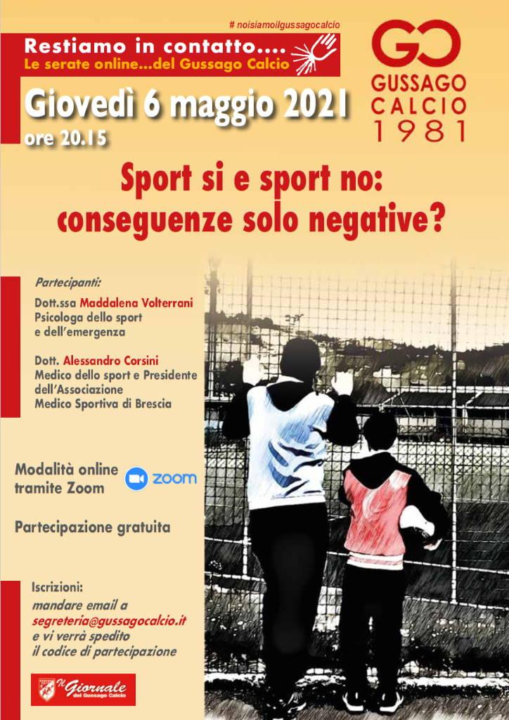 Incontro Gussago Calcio Sport si Sport maggio 2021