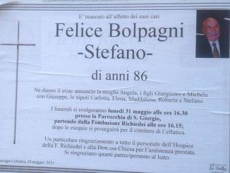 Necrologio Felice Bolpagni 2021