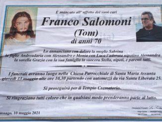Necrologio Franco Salomoni 2021