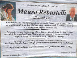 Necrologio Mauro Rebustelli 2021