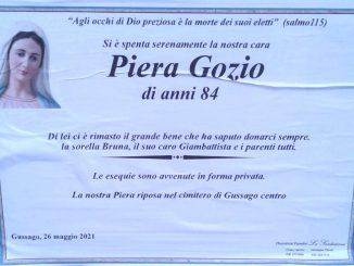 Necrologio Piera Gozio 2021