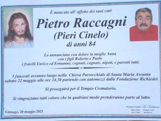 Necrologio Pietro Raccagni 2021