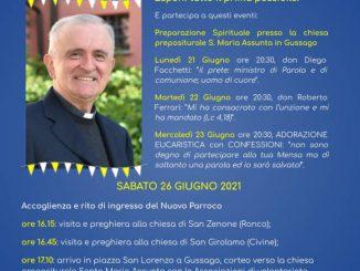 Accoglienza nuovo parroco don Musatti giugno 2021
