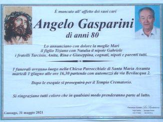 Necrologio Angelo Gasparini 2021