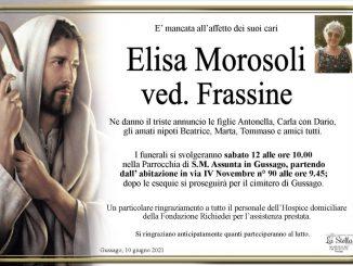 Necrologio Elisa Morosoli 2021