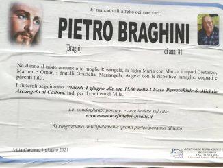 Necrologio Pietro Braghini 2021