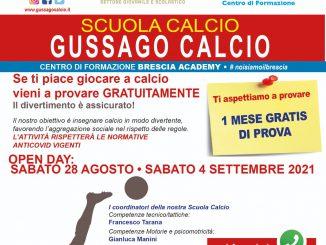 Openday Scuola Calcio Gussago Calcio agosto 2021