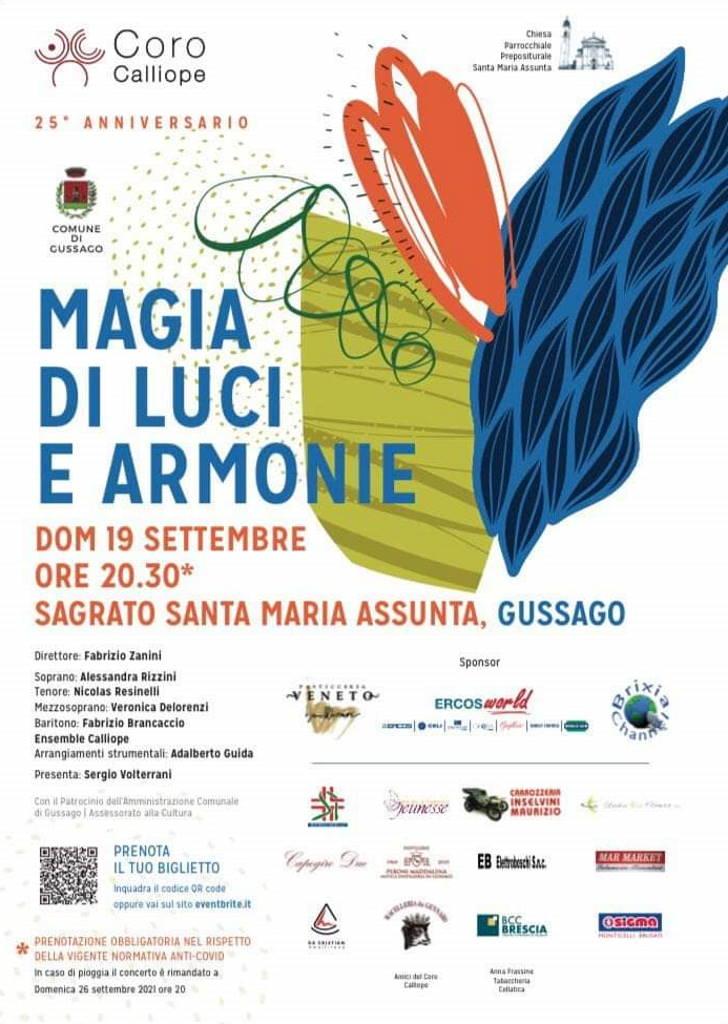 Concerto coro Calliope magia luci armonie settembre 2021