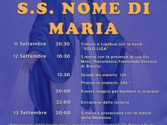 Festa SS Nome Maria settembre 2021