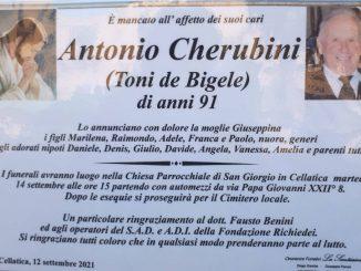 Necrologio Antonio Cherubini 2021