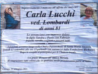 Necrologio Carla Lucchi 2021