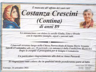 Necrologio Costanza Crescini 2021