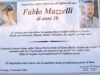 Necrologio Fabio Mazzelli 2021