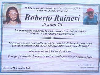 Necrologio Roberto Raineri 2021